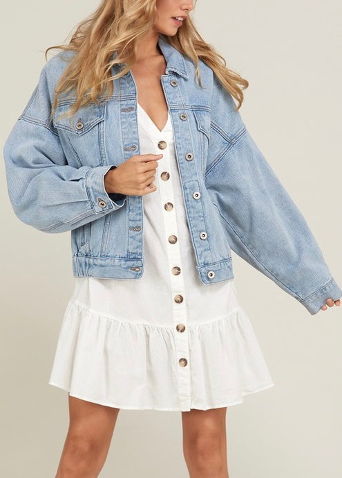 MOLLY BOYFRIEND FIT DENIM JACKET