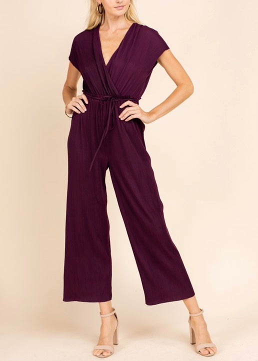 AMBER SHORT SLEEVE JUMPSUIT