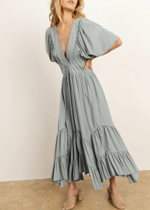 SOPHIA RUFFLE MAXI DRESS