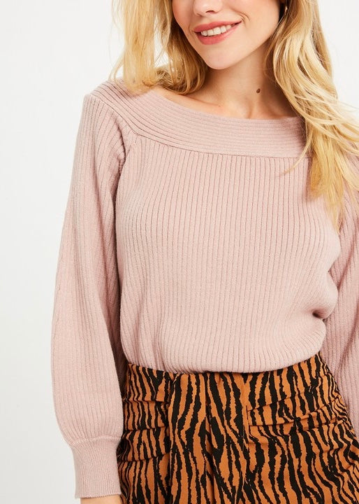 MIA SQUARED NECK SOFT SWEATER