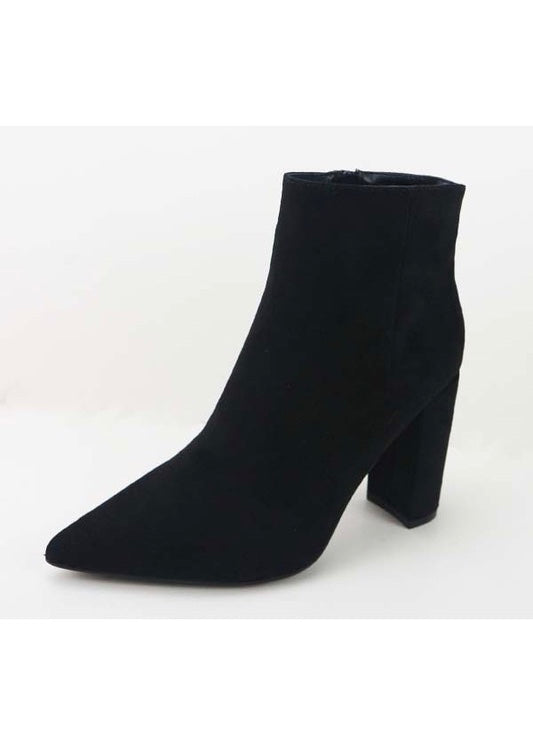 CHARLIE CHUNKY HIGH HEEL BOOTIES
