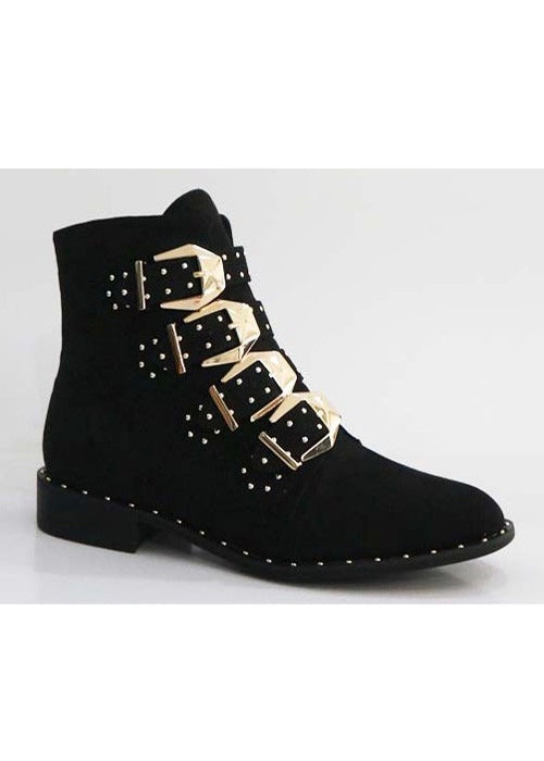 HEATHER STUDDED BOOTIES