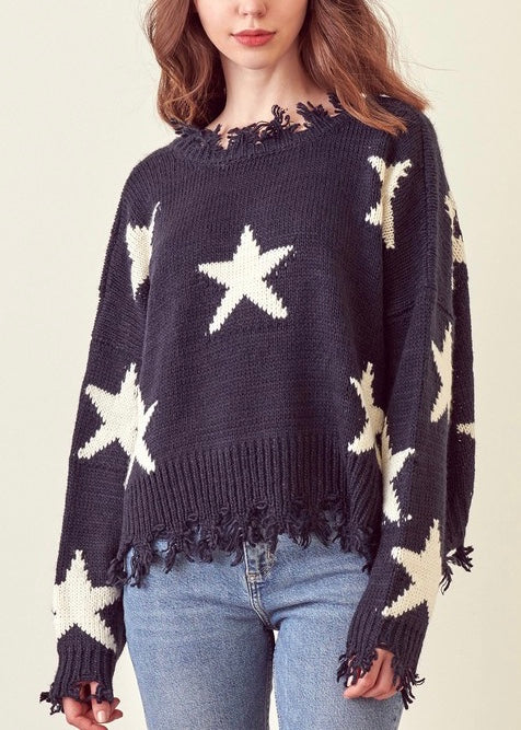 DANA KNIT STAR SWEATER