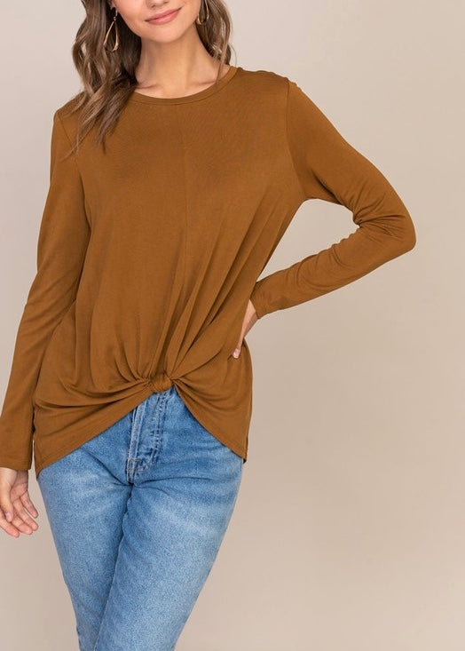 MARIA KNOTTED FRONT TOP