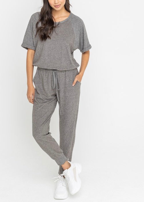 KOURTNEY DRAWSTRING KNIT JUMPSUIT