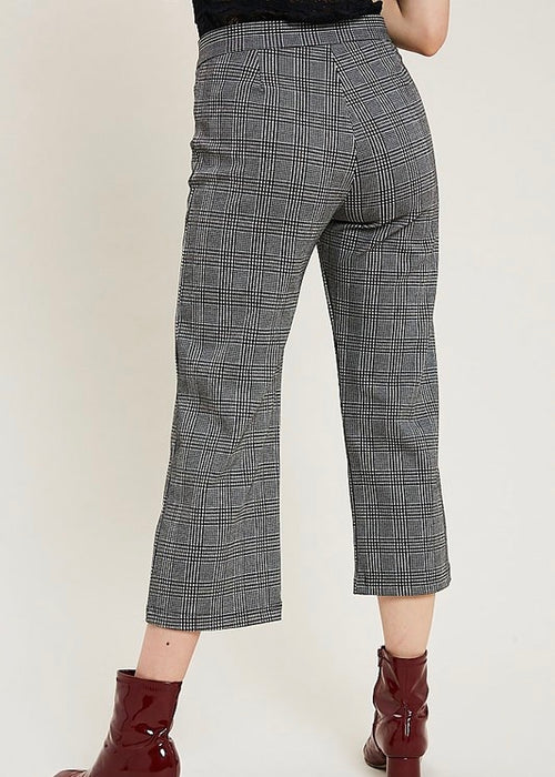 PLAID MIDI PANTS