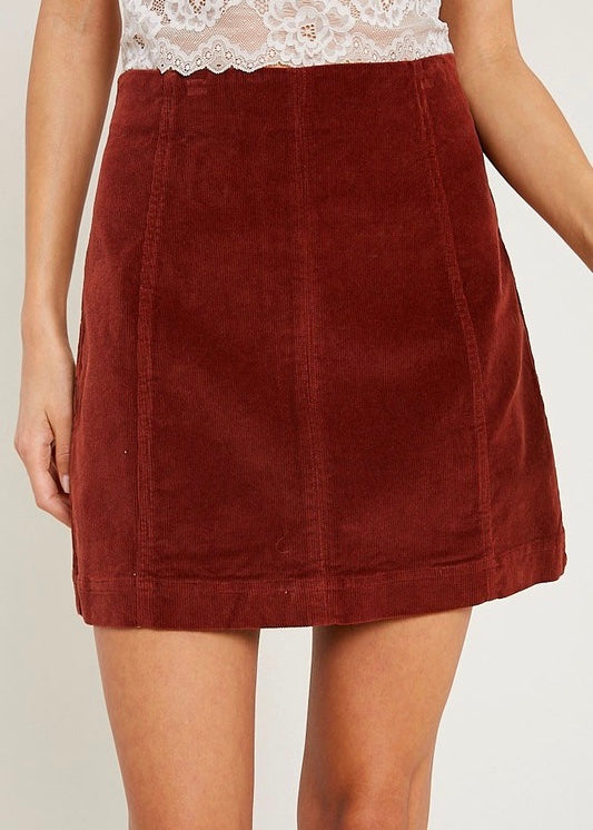 AMIEE CORDUROY MINI SKIRT