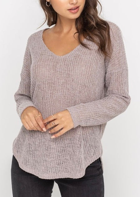 LEYLA RELAXED THIN KNIT TOP