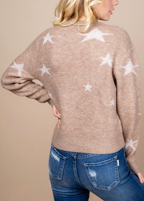 DROP LONG SLEEVE SWEATER