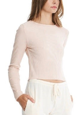 CANDY RIBBED BOAT NECK TOP