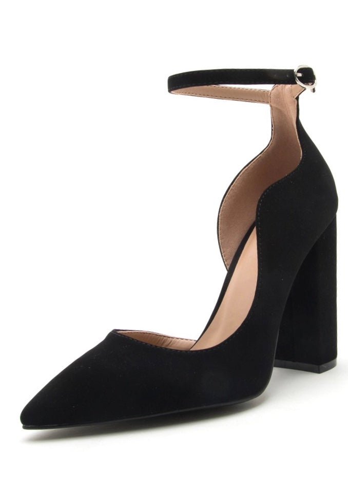 CORINA BLACK PUMP HEELS