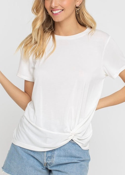 HAZEL KNOTTED T-SHIRT