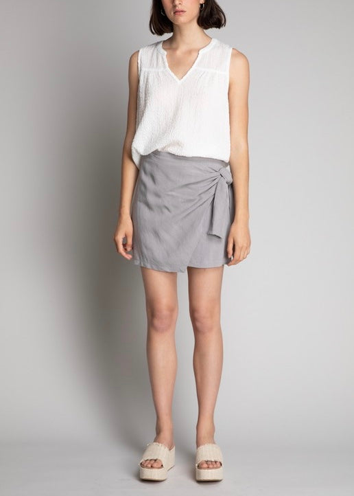 BRITTANY MINI WRAP SKIRT