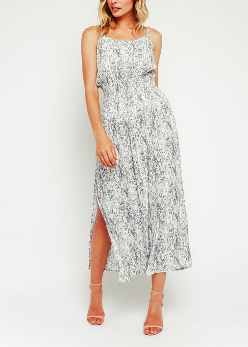 ASHLEY SNAKE PRINT MAXI DRESS