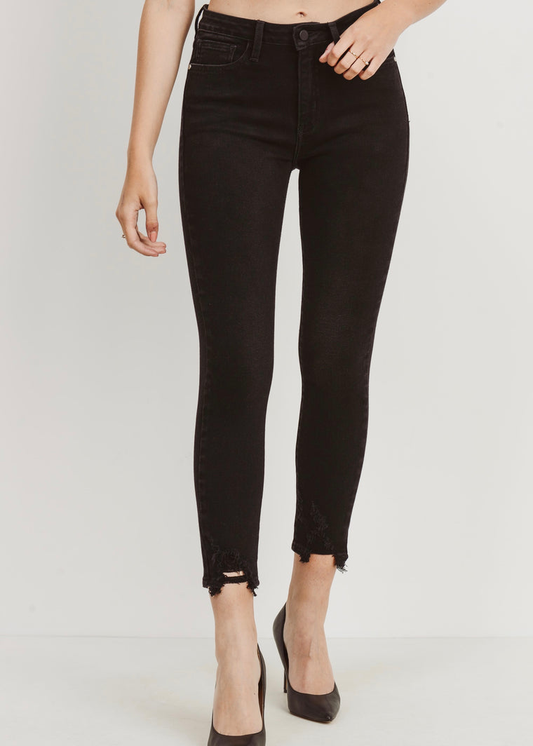 SOPHIE WASHED BLACK SKINNY JEANS
