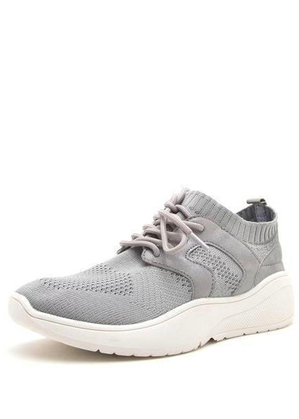 ASHLEY FLYKNIT GREY SNEAKERS