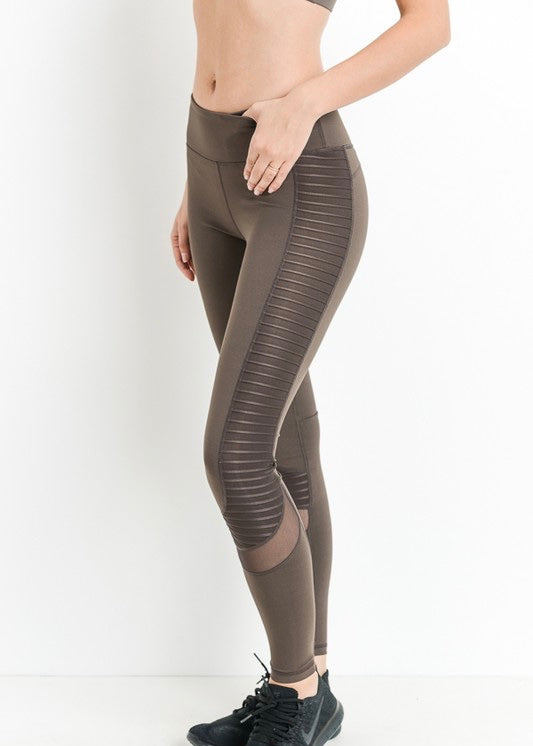 MOCHA SIDE DETAIL LEGGINGS