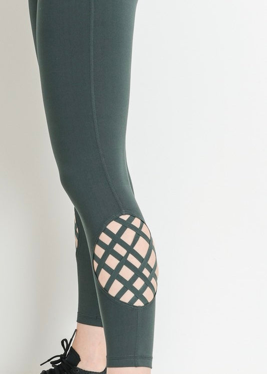 CHELS HIGHWAISTED LATTICE GRID LEGGINGS