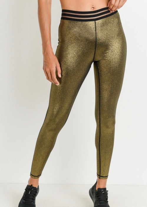 GLAMOUR GOLD HIGHWAISTED LEGGINGS