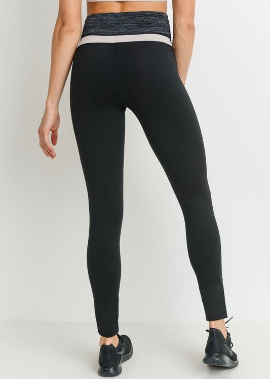 SPORTY COLOR BLOCK HIGHWAISTED LEGGINGS