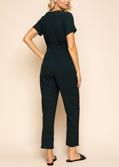JUMPSUIT WITH TIE WAIST