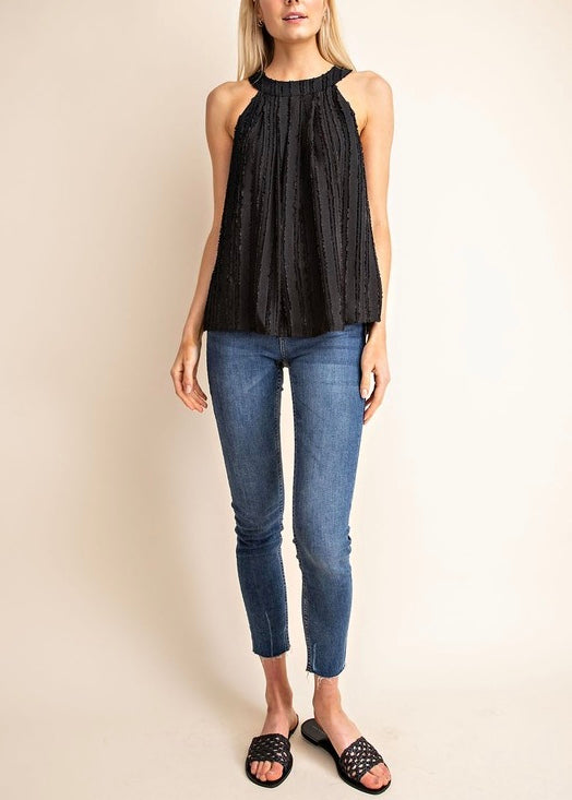 HIGH NECKLINE TOP