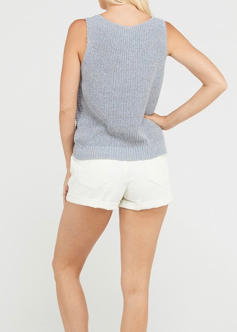 SLEEVELESS KNIT & KNOT SWEATER
