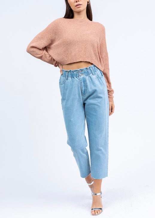 NATALIE CROPPED SWEATER