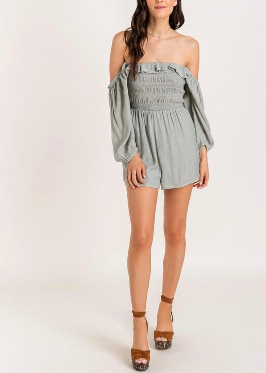 CHANDLER OFF THE SHOULDER ROMPER