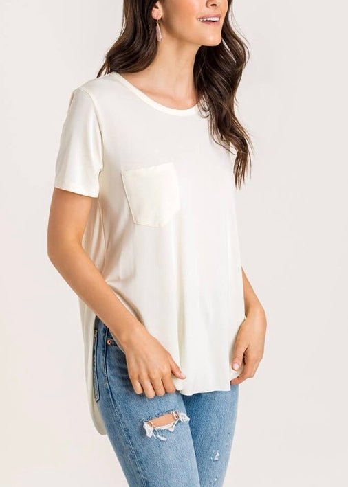 EVERLY SIDE SLIT T-SHIRT
