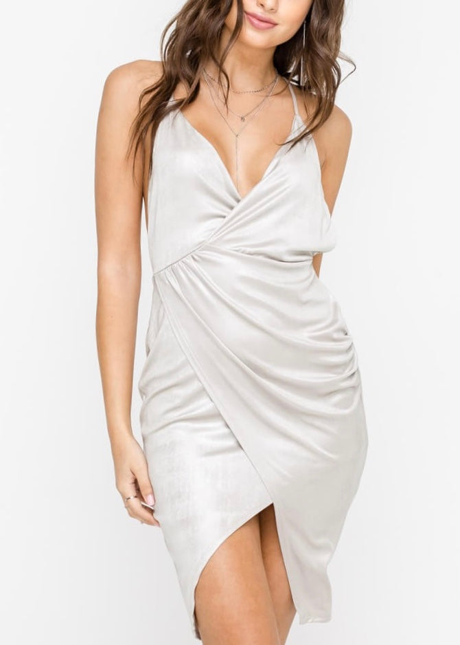 ARIANA METALLIC STRETCH DRESS