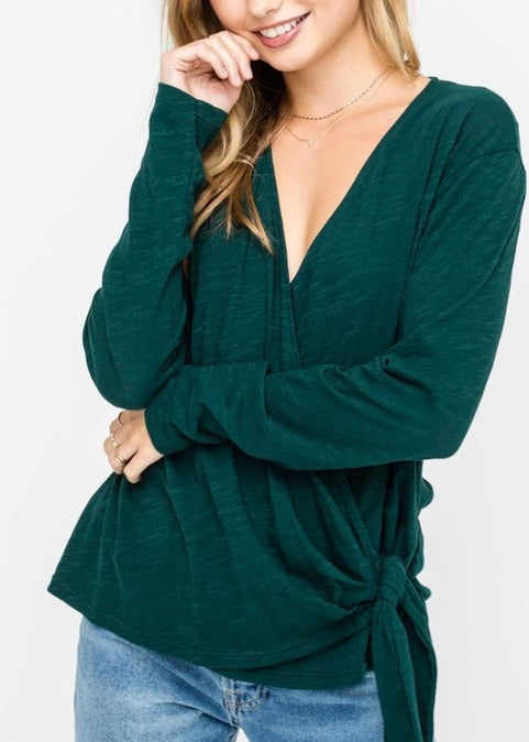 COTTON WRAP SHIRT