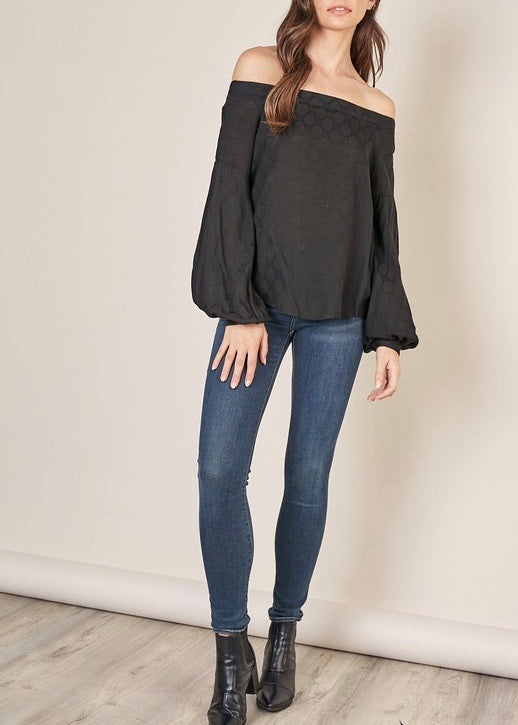 ELLIE BALLOON SLEEVE BLOUSE