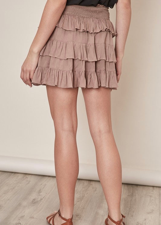 CHARLIE RUFFLED SKIRT
