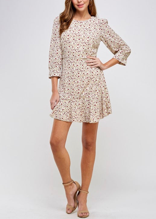 EFFIE FLORAL SKATER DRESS