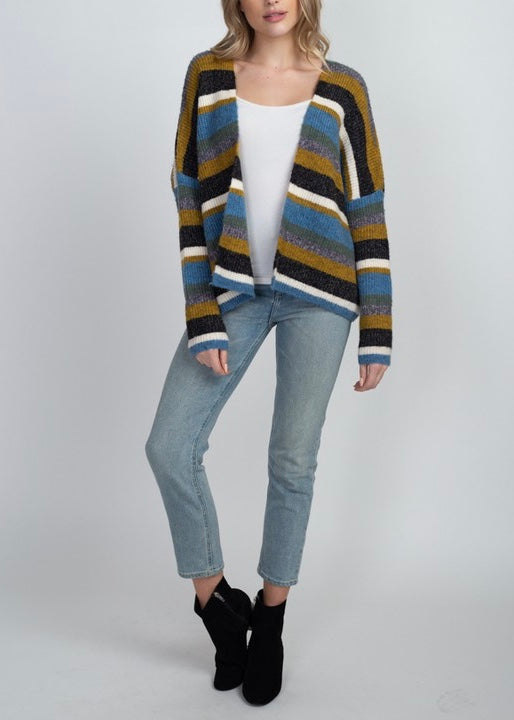 MELISSA STRIPE SWEATER CARDIGAN