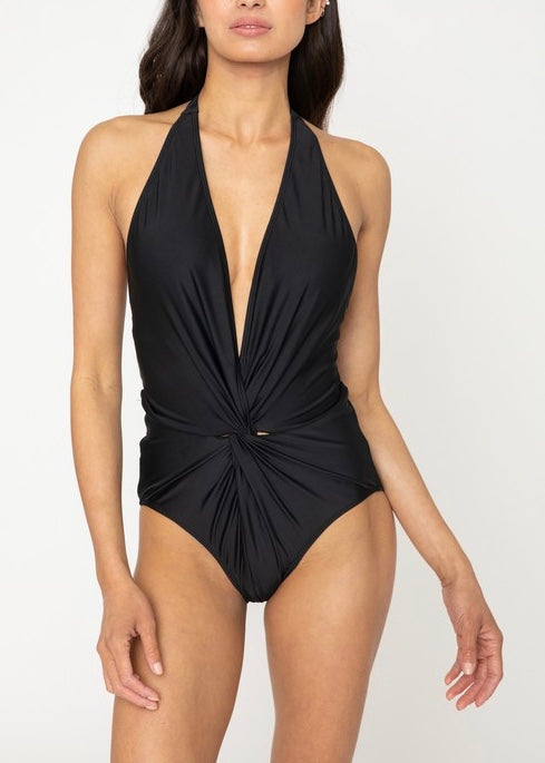 BRITT HALTER NECK ONE PIECE SWIMSUIT