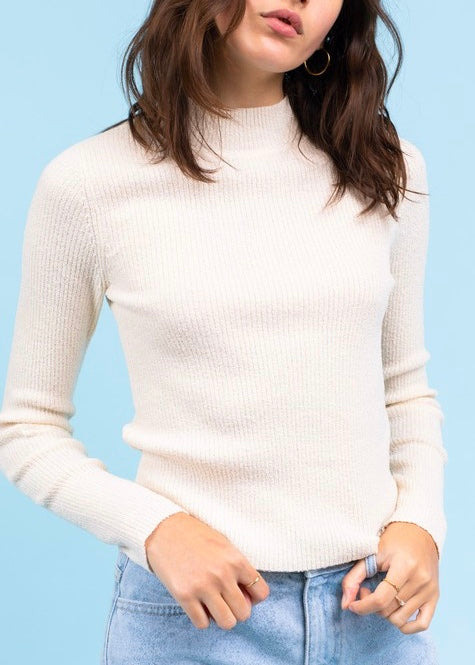 ALISON MOCK NECK SWEATER