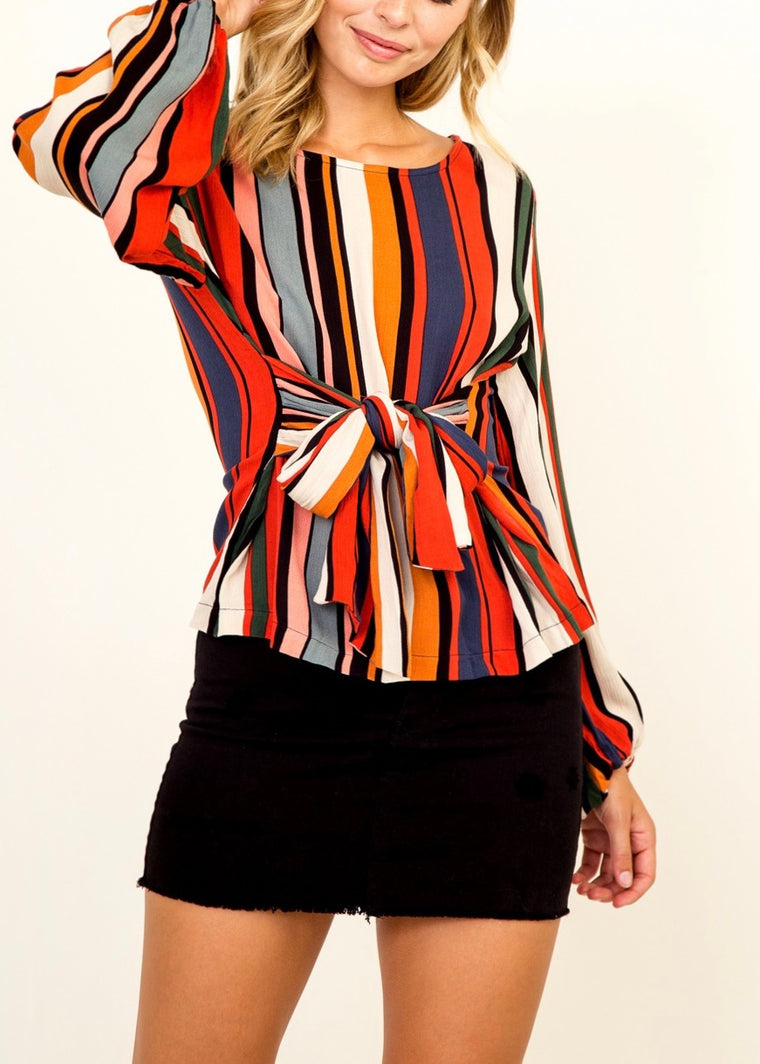 FESTIVE STRIPE BLOUSE