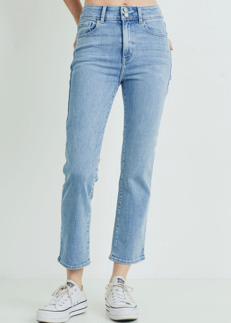 DEB DOUBLE BUTTON STRAIGHT JEANS