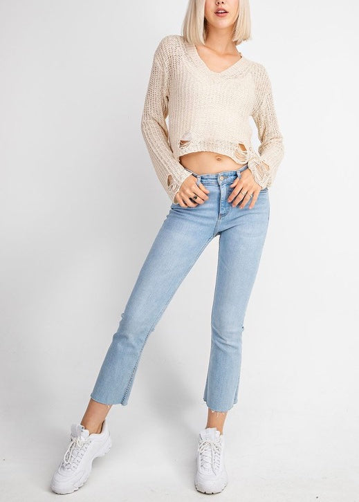 ALICIA DISTRESSED SWEATER