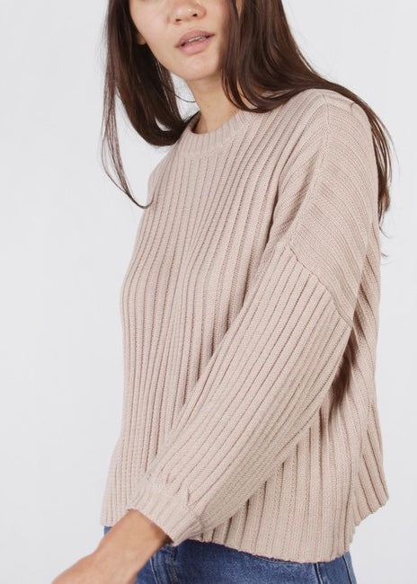 BOYFRIEND RIBBED SWEATER