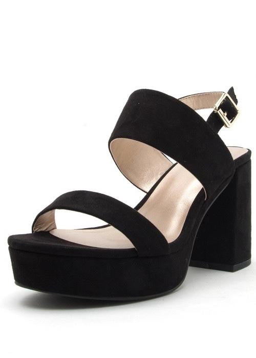 BLACK SUEDE PLATFORMS
