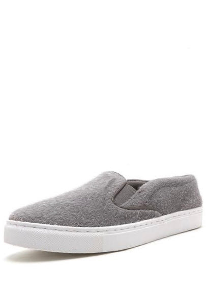 FUZZY GREY TRAINERS