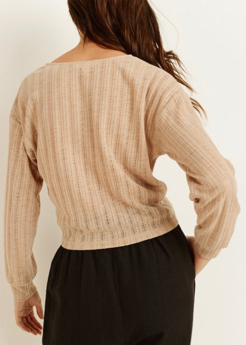 ALI WRAP SWEATER TOP
