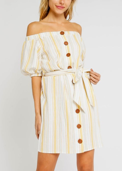 BELLA OFF SHOULDER DRESS