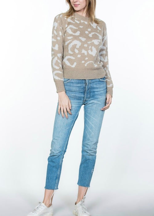 LEOPARD CREW SWEATER