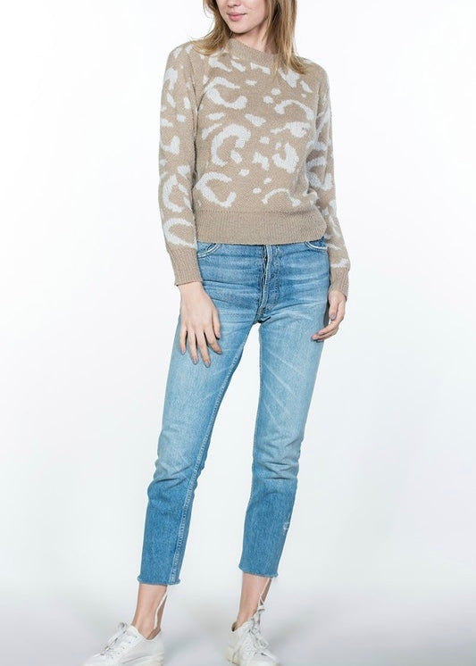 JENNIFER LEOPARD SWEATER