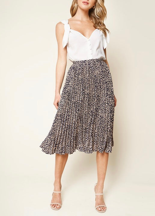 EMMA PLEATED MIDI SKIRT