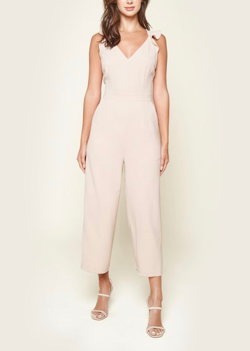 GABBY RUFFLED CROPPED JUMPSUIT